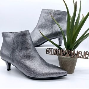 Naturalizer Giselle Shimmer Pewter Ankle Booties